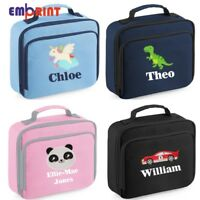 Personalised Embroidered Kids Lunch Bag Insulated Childrens School Dinner Box