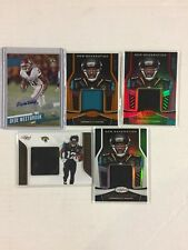 Dede Westbrook Rookie 5 Card Auto Jersey Serial Numbered 5 Card Lot