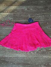 """Ralph Lauren Pink Double Layer """"Cruise"""" Short Skirt sz. L $398 BNWT"""