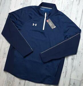 NEW! Under Armour Men's XL Knit Warm-Up Jacket 1/4 Zip Stretch Zip Pockets NWT