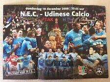 NEC NIJMEGEN - UDINESE COPPA U.E.F.A. MATCH 18/12/2008 PROGRAMMA POSTER RARO