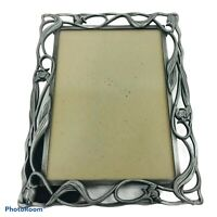 Silver Toned Pewter Finish 7x5 Floral Lattice Picture Photo Frame