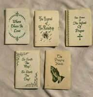 Lot 5 GIBSON GREETING CARD miniature RELIGIOUS Books INFANT PRAGUE Swift Short