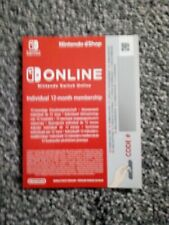 Nintendo Switch Online Subscription/Membership Card - 12 Months / 1 Year (New)