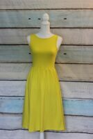 Asos Women's Dress Yellow Knee Length Deep U Back Plunge Casual Size 4