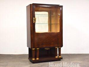 Art Deco Macassar Display Cabinet by Christian Krass