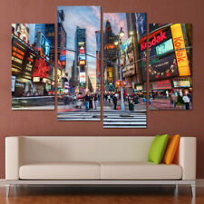Times Square Marriott Marquis New York City 4 Panel Canvas Print Wall Art