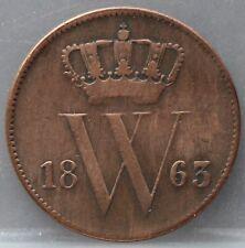 Nederland- Netherlands - 1 cent 1863 KM# 100 - nice!