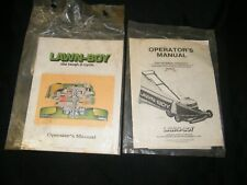 2 Old Lawn Boy Operators Manual 1977 2 Cycle Engine & 1980 Model 7071 8071 Mower