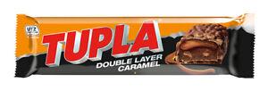 TUPLA DOUBLE LAYER CARAMEL Finnish Cocoa Nougat & Almonds Chocolate Bar 48g