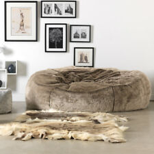 d7b2c246115 Extra Large Faux Fur Bean Bag - Love Seat Sofa - Two Seater Beanbag MINK  BROWN