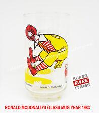 Ronald Mcdonald's Mug Glass Cups 1983 Super Rare Vintage Collector Item