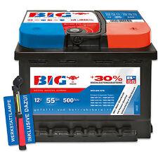 BIG +30% Silber Ca/Ca 12 V / 55 Ah - 500 A/EN Autobatterie PKW + Werkstattlampe