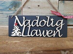 Nadolig Llawen Slate Sign
