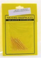 Model Shipways Fittings MS 0427 Jackstay Eyebolts 3/32 X 1  30 Per Pack. NEW