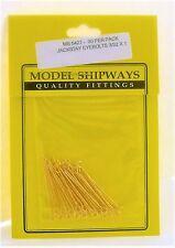 Model Shipways Fittings MS 0427 Jackstay Eyebolts 3/32 X 1  30 Per Pack. NEW