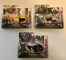 3 Transformers:1-Step Turbo Changer Bumble Bee Barricade Autobot Hound
