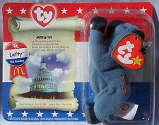 2000 LEFTY the DONKEY TY TEENIE BEANIE BABY McDonalds SEALED PKG Excellent Cond!