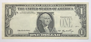 3rd Print on Back / Reverse Overprint Currency Error - 2006 $1 FRN  Uncirculated