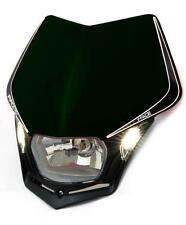 Race Tech V-Face Black LED Headlight Enduro Motorbike DR250 DRZ250 DRZ400 DR650