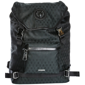New Versus Versace Logo Black Rucksack Backpack