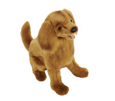 Hansa Golden Retriever Brown Realistic Soft Animal Plush Toy 28cm DELIVERY