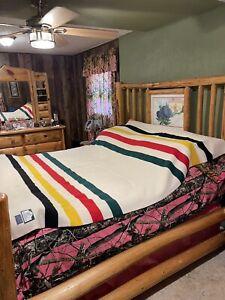 "Pendleton Glacier Park Wool Blanket 80 x 90 """