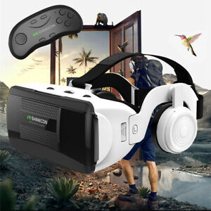 Google VR Headset 3D Virtual Reality With Remote Controller For Samsung iPhone