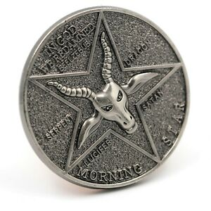 Lucifer Morning Star Pentecostal Coin Specie Cosplay Accessories Props Gift Case