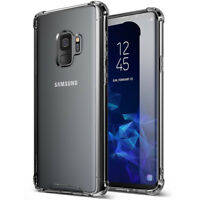 Galaxy S9 Soft TPU Case, [Soft Crystal] Clear Slim Hybrid Shockpoof Cover
