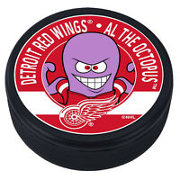 """Detroit Red Wings Al The Octopus Mascot 3D Textured """"Raised Letters"""" Hockey Puck"""