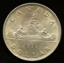 1938 Canadian Silver Dollar - Key Date