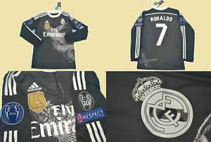 real madrid jersey shirt 2014 2015 away long sleeve ronaldo dragon playera ucl