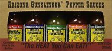 Arizona Gunslinger Pepper Hot Sauce Mini 5 Pack Variety 3/4 oz bottles