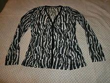 Spitzen Bluse Jacke in schwarz weiß tolles Spitzenshirt Gr. 40 - 38 NEU TOP