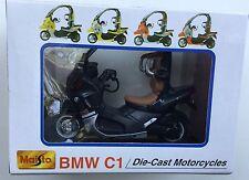 Maisto 39350 1:18 BMW C1-BLACK Die-Cast Motorcycle, Motorbike