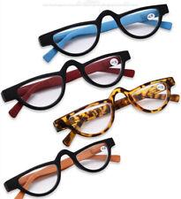 Reading Glasses Women Men Half Moon Presbyopic +1.0 1.5 2.0 2.5 3.0 3.5  Cat Eye