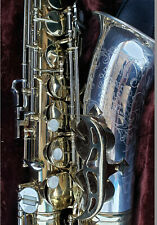 1968 King Super 20 SILVERSONIC Alto Saxophone Sterling Silver Neck & Bell WOW!