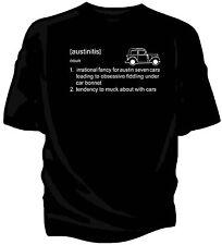 Austin Seven 7 classic car t-shirt  - 'austinitis' definition.