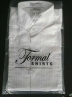 Tuxedo Shirt CLASSIC Fit White Formal WING TIP Collar long sleeve New