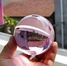 Asian Rare Natural Quartz PINK Magic Crystal Healing Ball Sphere 40mm + Stand