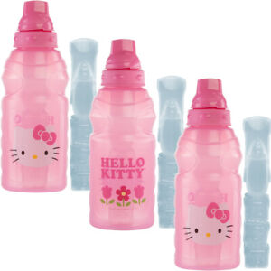 3 Sanrio Hello Kitty Water Bottles 16oz Zak Kids Chillpak With Ice Pack Reusable