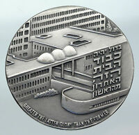 1975 ISRAEL Large Medical HADASSAH UNIVERSITY HOSPITAL Old Silver Medal i85585