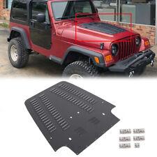 Fits 1997 2002 Jeep Wrangler Tj Aluminum Vented Hood Louver Black Powdercoat Fits 1997 Jeep Wrangler