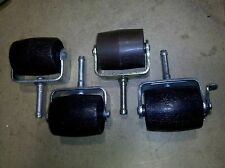 7JJ79 4 PACK BEDFRAME ROLLERS, ONE  DOESN'T MATCH, ONE IS A LOCKER, VERY GOOD