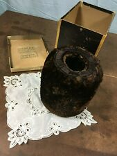 vintage SEAL FUR MUFF in box with vintage lace hankerchief