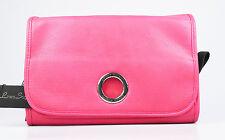 Modische Kulturtasche Kosmetiktasche LINEA SOGNO, aufhängbar, weiches PU, pink