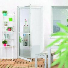 Insektenschutz-Tür PLUS Fliegengitter mit Alu-Rahmen 100x210cm Weiß Mückenschutz