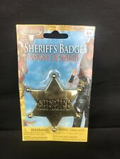 Sheriff Badge Cowboy Western Fancy Dress Up Halloween Costume Accessory
