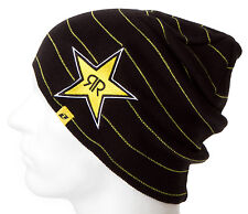 Rockstar Energy Drink Men's One Industries Stripes Beanie - Black